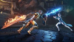 Screenshots zum Kampf aus Skyforge