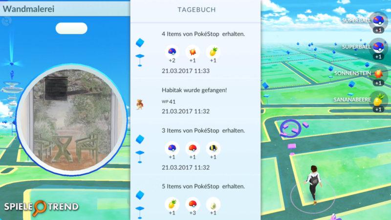 Pokémon GO Sonnenstein beim PokéStop