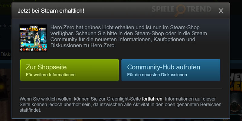 Steam Greenlight bringt HeroZeroGame