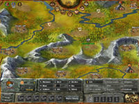 StoneAgeKings, Kartenübersicht im Browserspiel