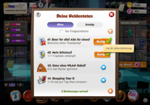 Teamkampf Heldentaten in Hero Zero