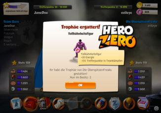 Coole Trophäen bei Teamkämpfen in Hero Zero gewinnen