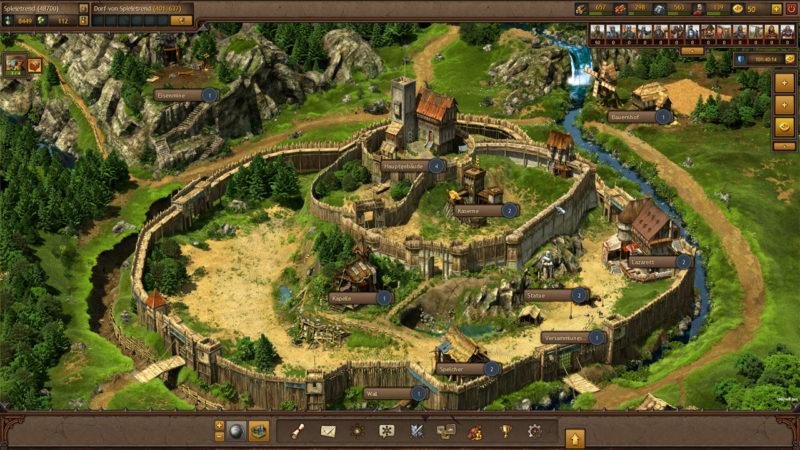 Tribal Wars 2, die Burg aufbauen
