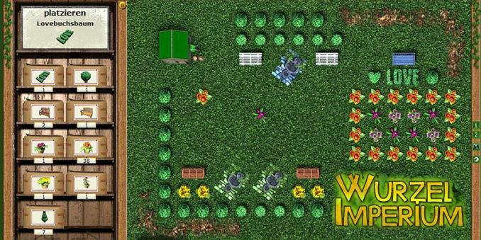 Erholungsgärten im Wurzelimperium Browsergame